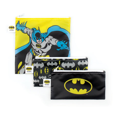 Bumkins Reusable Snack Bags (3 pack): Batman
