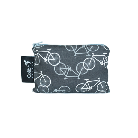 Colibri Small Reusable Snack Bag - Bikes