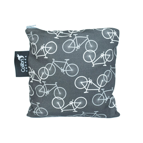 Colibri Large Reusable Snack Bag - Bikes