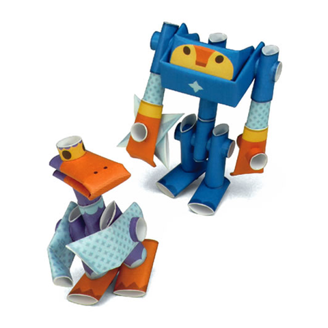 Magnote Piperoid Smoke & Bill Paper Craft Robot Kit - Ninja Mates