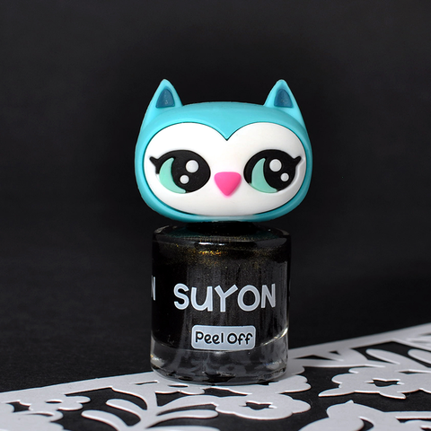 Suyon Black & Gold Awesome Owlia Nail Polish