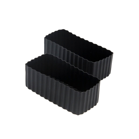 LLBC Rectangle Bento Cups - Black (Set of 2)