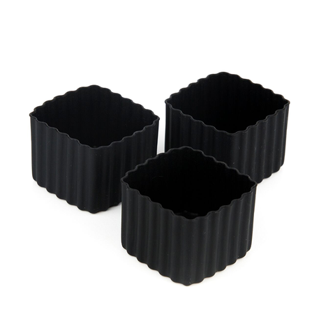 LLBC Square Bento Cups - Black (Set of 3)