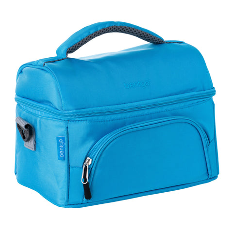Bentgo Deluxe Insulated 2-Compartment Lunch Tote - Blue