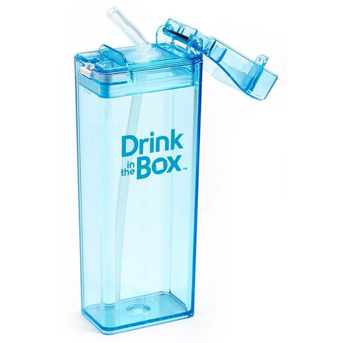 Drink-in-the-Box 12oz Reusable Drink Box: Blue