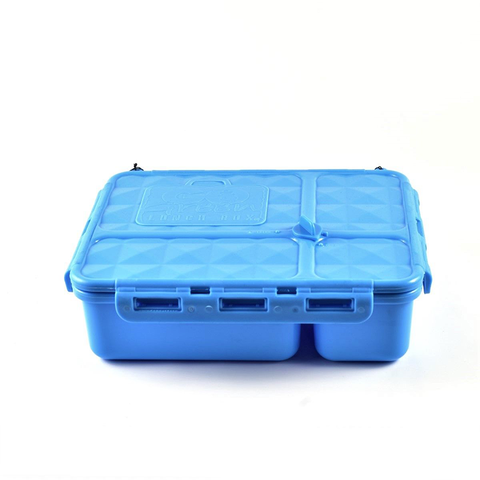 Go Green 4-Compartment Leakproof Break Box: BLUE