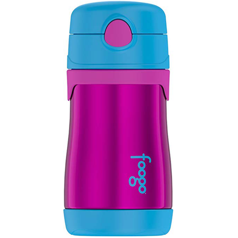 Thermos Foogo Vaccum Insulated Bottle: Aubergine/Blue