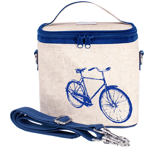SoYoung Large Cooler Bags: Blue Bicycle