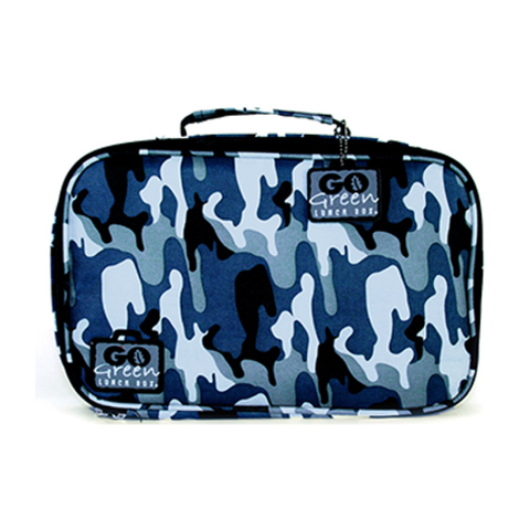 Go Green Insulated Carrying Case: Blue Camo