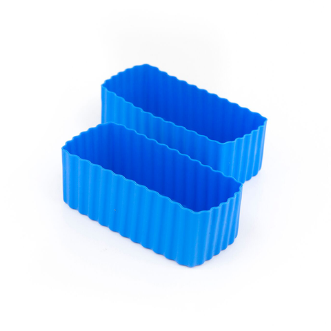 LLBC Rectangle Bento Cups - Blue (Set of 2)