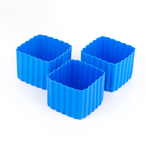 LLBC Square Bento Cups - Blue (Set of 3)