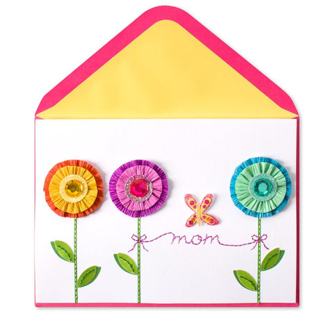 PAPYRUS Crepe Paper Flower Mother's Day Card | CuteKidStuff.com