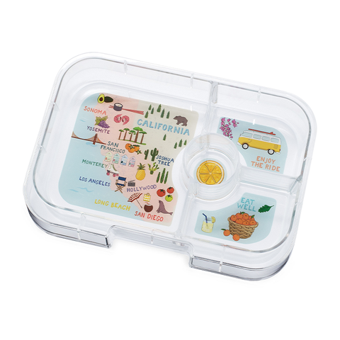 Yumbox Extra Tray: 4 Compartments, California theme