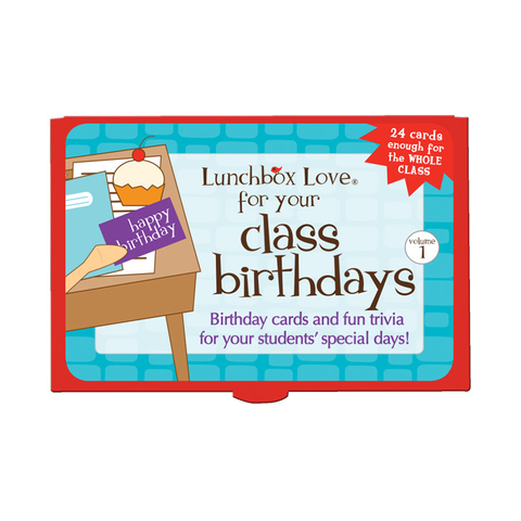 Lunchbox Love® For Teachers: Class Birthdays
