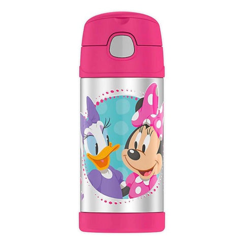 Thermos 12oz FUNtainer Straw Bottle: Minnie Mouse & Daisy Duck