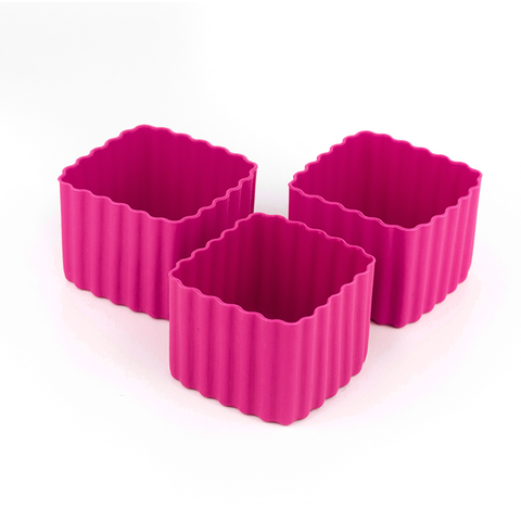LLBC Square Bento Cups - Dark Pink (Set of 3)