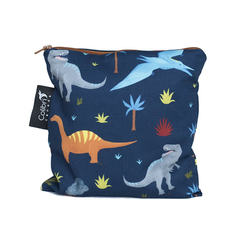 Colibri Large Reusable Snack Bag - Dinosaur