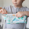 Bumkins Small Reusable Snack Bags (2 pack): Dinosaurs & Blue Tropic