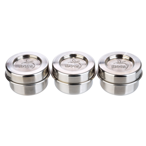 Lunch Bots Leakproof Stainless Steel Condiment Containers (Set of 3)