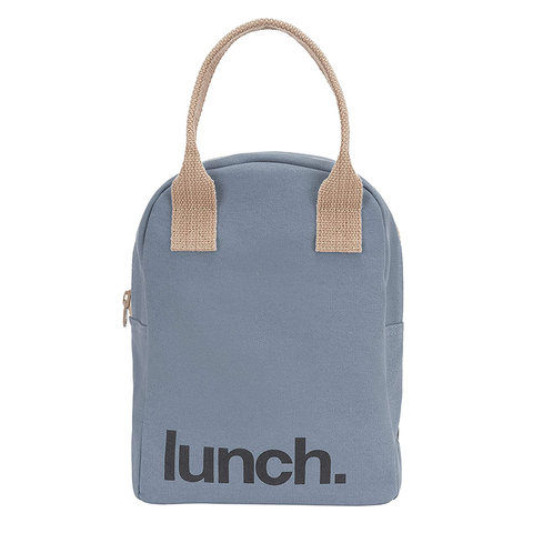 Fluf LUNCH BLUE Zipper Lunch Bag