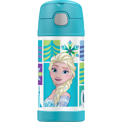 Thermos 12oz FUNtainer Straw Bottle: Frozen Elsa & Anna