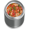 16oz Funtainer Food Jar with Spoon: Cool Gray