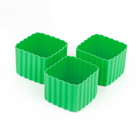 LLBC Square Bento Cups - Green (Set of 3)