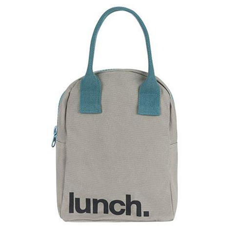 Fluf GREY MIDNIGHT Zipper Lunch Bag