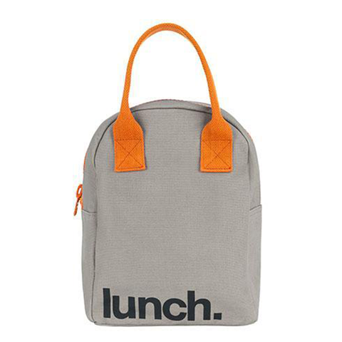 Fluf LUNCH GRAY PUMPKIN Zipper Lunch Bag