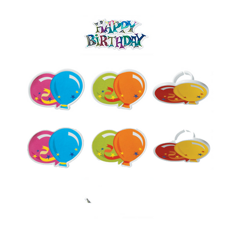 Happy Birthday (Rings, 6Pk)