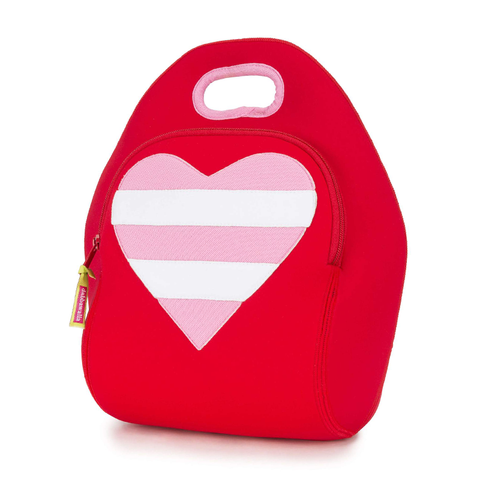 Dabbawalla Red Heart Washable Lunch Bag