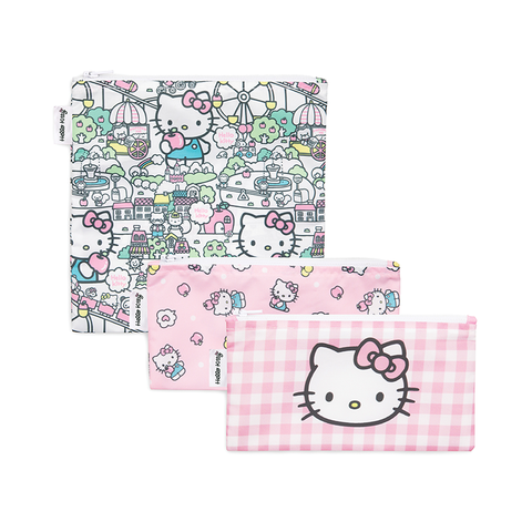 Bumkins Reusable Snack Bags (3 pack): Hello Kitty