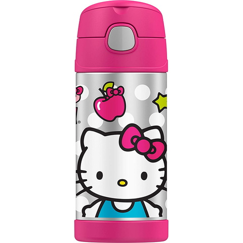 Thermos 12oz FUNtainer Straw Bottle: Hello Kitty Hamburger
