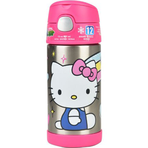 Thermos 12oz FUNtainer Straw Bottle: Hello Kitty Rainbow