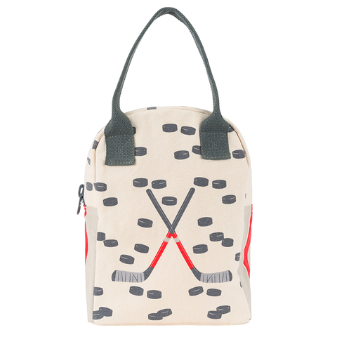 Fluf HOCKEY Zipper Lunch Bag