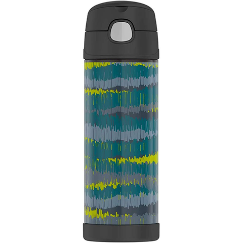Thermos 16 oz FUNtainer Hydration Bottle with SPOUT: Ikat Stripes
