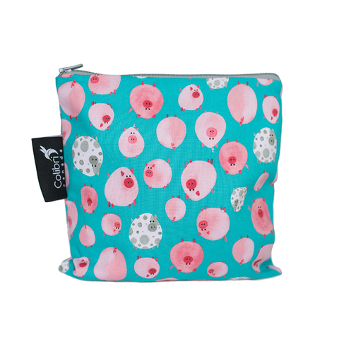 Colibri Large Reusable Snack Bag - Oink