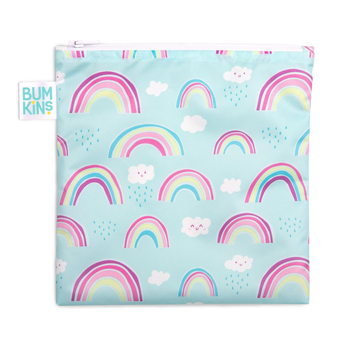Bumkins Large Reusable Snack Bag: Rainbows