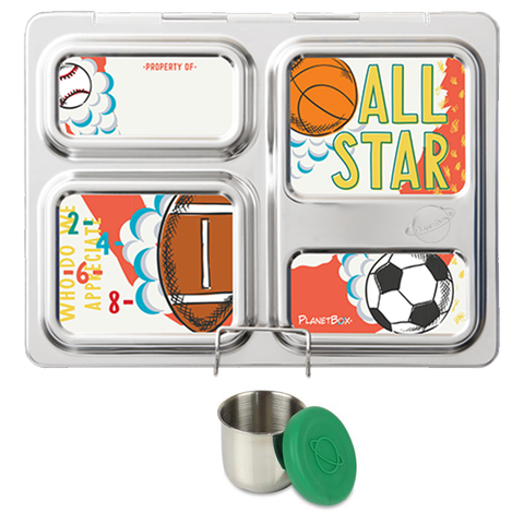 PlanetBox Launch with One Sililid Tall Dipper & Free Sports Magnets