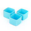 LLBC Square Bento Cups - Light Blue (Set of 3)