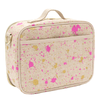 SoYoung Lunch Box (Special Edition Paper + Modern Kids' Collection): Linen Fuchsia and Gold Splatter