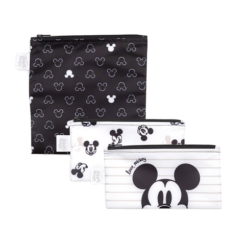 Bumkins Reusable Snack Bags (3 pack): Love, Mickey