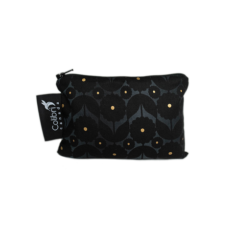Colibri Small Reusable Snack Bag - Midnight Flower
