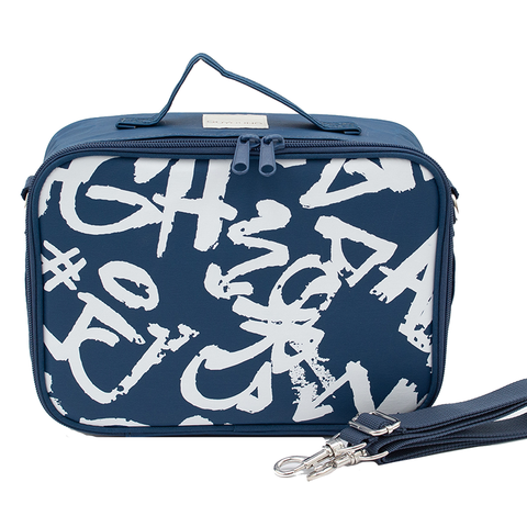 SoYoung Lunch Box: Navy Paper White Graffiti