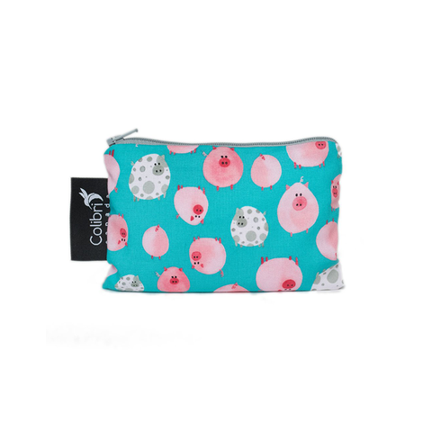 Colibri Small Reusable Snack Bag - Oink