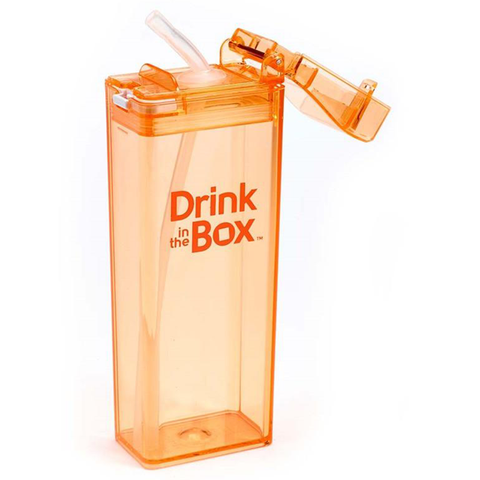 Drink-in-the-Box 12oz Reusable Drink Box: Orange