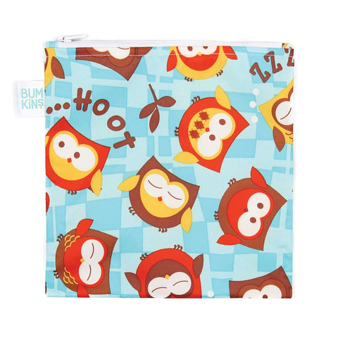 Bumkins Large Reusable Snack Bags: Owls