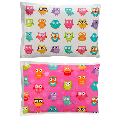 Bentology 2 Pack- Cool Pack - White Owl, Pink Owl