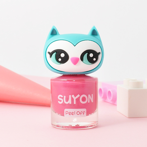 Suyon Pink Awesome Owlia Nail Polish