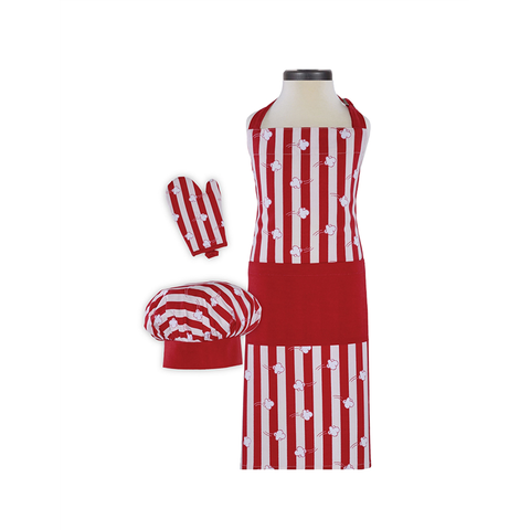 Handstand Kitchen Deluxe Baking Outfit for Children (Boxed Set): Popcorn